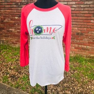 Tops - Tennessee Home For the Holidays Tee - S